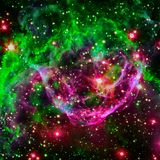 Colorful spiral galaxy in outer space. Elements of this Image furnished by NASA.  royalty free stock photos