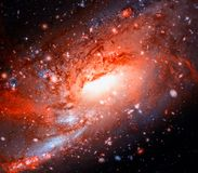 Colorful spiral galaxy in outer space. Elements of this Image furnished by NASA.  royalty free stock image
