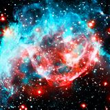 Colorful spiral galaxy in outer space. Elements of this Image furnished by NASA.  stock photos