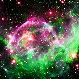 Colorful spiral galaxy in outer space. Elements of this Image furnished by NASA.  stock images