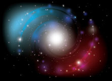 Colorful spiral galaxy - vector Royalty Free Stock Photography