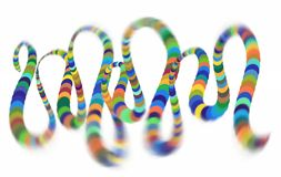 Colorful spiral helix Converging to the Center. Elliptical Design Element.  stock illustration