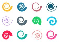 Colorful Spiral Icons Stock Photo