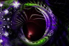 Colorful Spiral lines. Colorful lines of an abstract background royalty free illustration