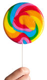 Colorful spiral lollipop Stock Photo