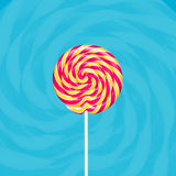 Colorful spiral lollipop Royalty Free Stock Photos