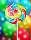 Colorful spiral lollipop Stock Photography