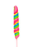Colorful spiral lollipop Royalty Free Stock Images