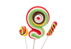 Colorful spiral lollipop lolly pop Stock Image
