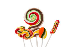 Colorful spiral lollipop lolly pop Royalty Free Stock Photo