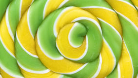 Colorful spiral lollipop, macro shot, as background Royalty Free Stock Image