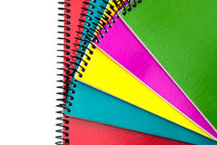 Colorful spiral notebooks Royalty Free Stock Photos