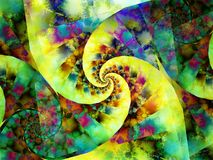 Colorful Spiral Paint Pattern