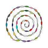 Colorful spiral pattern, sketch for your design Royalty Free Stock Photos