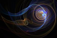 Colorful spiral smoke. Fractal blue red yellow purple smoke spiraling vector illustration