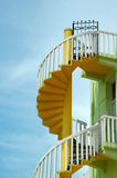 Colorful Spiral Staircase with a Gate Royalty Free Stock Photography