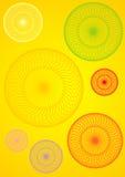 Colorful spirals. Design illustration Stock Image
