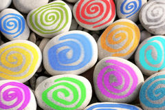 Colorful Spirals as Modern Wall Decoration Royalty Free Stock Photo