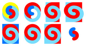 Colorful spirals 9 - 16. Eight colorful spirals 9 - 16 Stock Photos