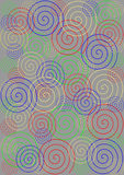 Colorful spirals on grey background Royalty Free Stock Photo