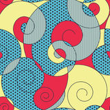 Colorful spirals seamless pattern. Abstract colorful spirals seamless pattern Stock Photo