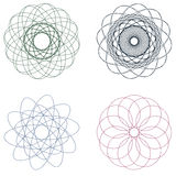 Colorful Spirographs Stock Photo
