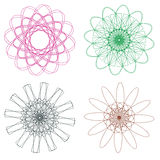 Colorful Spirographs Stock Image