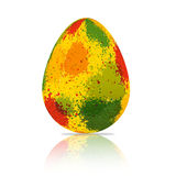 Colorful splace on easter egg Royalty Free Stock Photos
