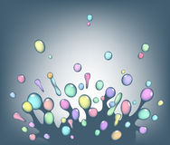 Colorful splash Stock Images