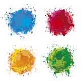 Colorful splash. Four different colored illustration splashes Stock Illustration