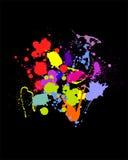 Colorful splash. Vector illustration of colorful splashes Stock Photo