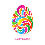 Colorful splash abstract decorative ornate Easter egg Royalty Free Stock Photo