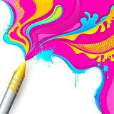 Colorful Splash coming out of Pichkari Royalty Free Stock Images