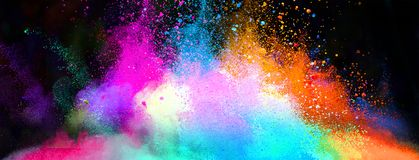 Color splash in the dark background royalty free illustration
