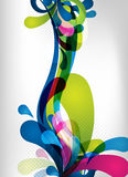 Colorful  splash design Royalty Free Stock Photo