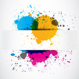 Colorful splash grunge paper banner Stock Images