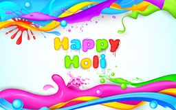Colorful Splash in Holi Wallpaper Royalty Free Stock Photo