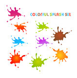 Colorful splash set. Hand painted Stock Image