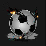 Colorful splash soccer ball. Colorful splash with soccer ball on dark background Stock Photos