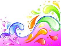 Colorful splash Royalty Free Stock Photos