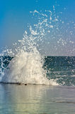 Colorful splash of waves close-up Stock Images