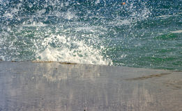 Colorful splash of waves close-up Stock Image