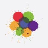 Colorful splashe Royalty Free Stock Image