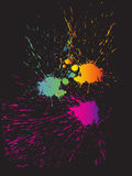 Colorful splashes. Vector illustration of abstract splashes Royalty Free Stock Photography