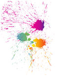 Colorful splashes Stock Photography