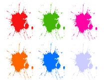 Colorful splashes. Illustration of splashes in different colors Royalty Free Stock Photo