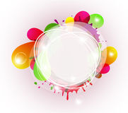 Colorful splashes Stock Images