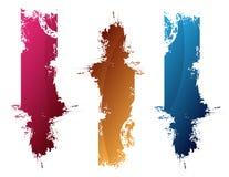 Colorful splashes. Pink, orange and blue splashes Stock Images