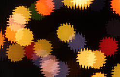 Colorful splashes. Abstract background with colorful round splashes on black Stock Image