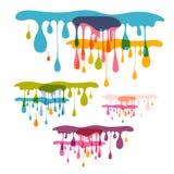 Colorful Splashes, Blots Royalty Free Stock Photos
